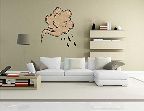 Wandtattoo Comic 101 – Lustiges Motiv Regen – Wandaufkleber