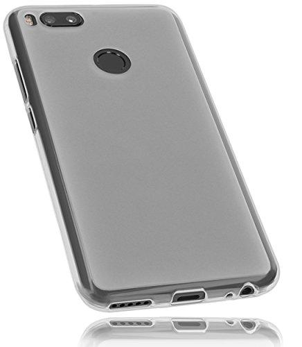 mumbi Funda compatible con Xiaomi Mi A1, blanco claro
