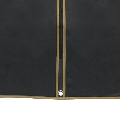 Hangerworld - Fundas Porta Trajes, (152 cm) Impermeable - Negro. 6 Unidades