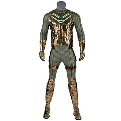 Verkauf Cosplay Für Spiderman Kostüm - nihiug Spiderman: Heroes Expedition COS Kostüm Mystery Guest Cloak Goldener Kampfanzug Cosplay Halloween,Green-XXL