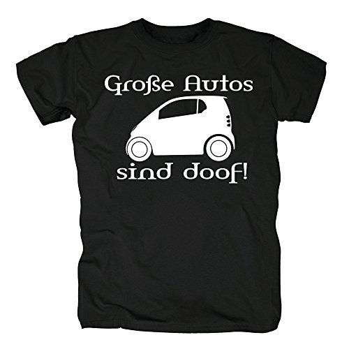 TSP Große Autos sind doof! T-Shirt Herren Black