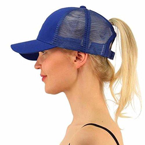 Btruely Baseball Cap Unisex Mütze Damen Snapback 2018 Neu Hysteresenhut Einstellbar Netzkappe Flacher Hut Herren Vintage Baseball Cap Jungen Hip Hop Hut (Ein Größe, Blau)