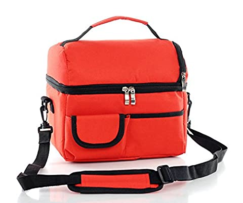 Candoran Insulated Cooler Bag Tote Bag for Family Travel BBQ Camping Picnic Lunch-8L Waterproof Large Capacity Fresh Ice Pack Lunch Box Lunch Container (red)