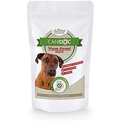 AniForte CaniDoc Wurm-Formel Snack 100g für Hunde, Hunde-Leckerli, Natur Pur, Bei und nach Wurmbefall, Hunde-Belohnung, Made in Germany