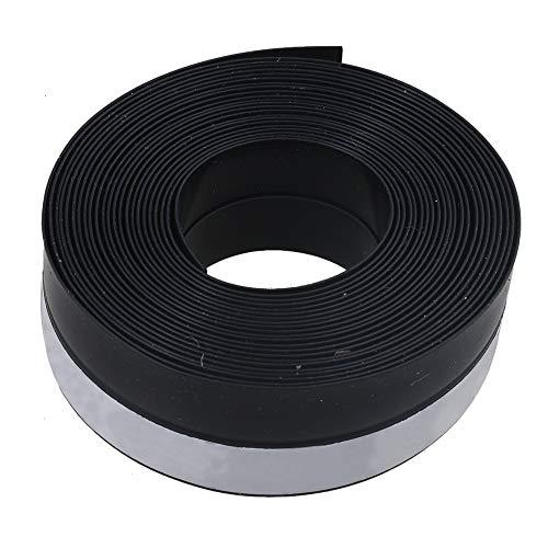 RDEXP 5 Meter Länge schwarz Garagentor Wetterleiste Gummi Dichtungsband für Schiebetüren Schiebetüren