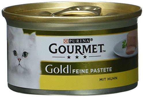 Gourmet Gold Katzenfutter Feine Pastete mit Huhn, 12er Pack (12 x 85 g) Dosen
