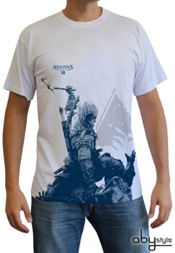 Assasins Creed 3 - Connor T-Shirt Gr. XL Tee Original und Lizensiert (Anime (Cosplay Kostüm Connor)