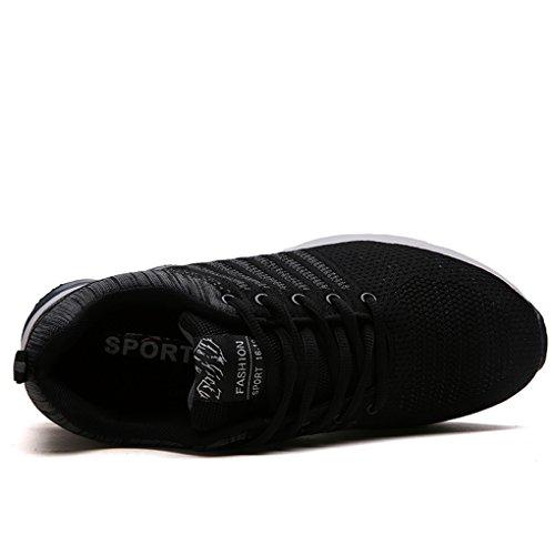 Uomo Scarpe sportive leggero degli Pattini ad aria traspirante dell'ammortizzatore Scarpe da Trail Running Nero