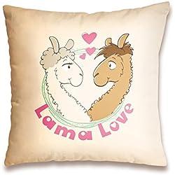 LAMA LOVE. Cojín