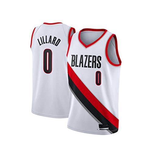 Auart Mens Basketball Jersey # 0 Damian Lillard NBA Portland Rip Stadt Trail Blazers Jugend ärmelschnelltrocknende Sportbekleidung S-XXL (Color : B, Size : XS)