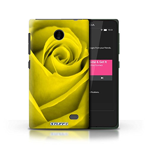 Kobalt® Imprimé Etui / Coque pour Nokia X / Rouge conception / Série Rose Jaune