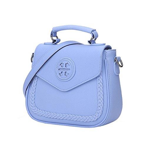 DISSA ES841 neuer Stil PU Leder Deman 2018 Mode Schultertaschen handtaschen Henkeltaschen,240×90×200(mm) Blau