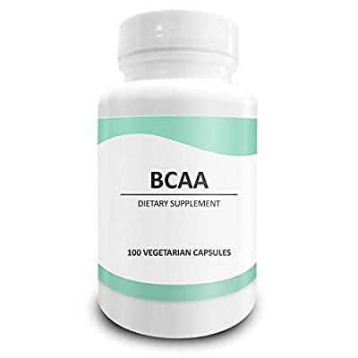 Pure Science BCAAs 1000mg - High Quality BCAA Powder in vegan capsules - Natural Alternative to tablets - BCAA Supplement for Workout, Energy & Muscle Recovery - 100 Vegetarian Capsules