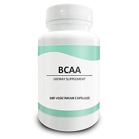 Pure ScienceBCAA1000mg-hautequalitéBCAApoudre,encapsulesvégétalien-Alternativenaturelleauxcomprimés-supplémentdeBCAApourlaséance d'entraînement,énergieetrécupérationmusculaire-50Capsulesvégétariennes
