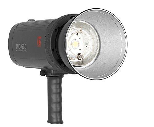 Jinbei HD-II 600-V Akku-Studioblitz mit 600Ws + Super Sync, Fernsteuerung, Standardreflektor