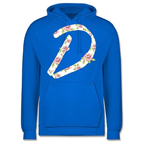 Anfangsbuchstaben - D Rosen - Männer Premium Kapuzenpullover / Hoodie Himmelblau