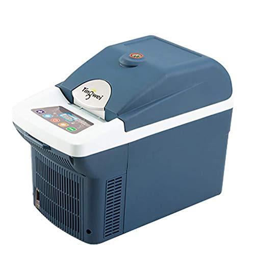 TCYLZ Tragbarer 6-Liter-Kühlschrank fürs Auto - Kompakter Minikühlschrank mit Kühl- / Wärmepumpe für Autos, Haushalt, Reise und Medizin Kleiner Kühlschrank (mit Bildschirmanzeige) -