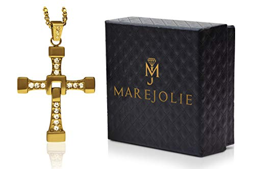 Marejolie Originale Vin Diesel Kette in Gold aus Edelstahl inkl. Schmuckverpackung