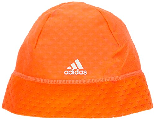 adidas Clima Heat Fleece - Gorro de running para mujer, color rojo, ta