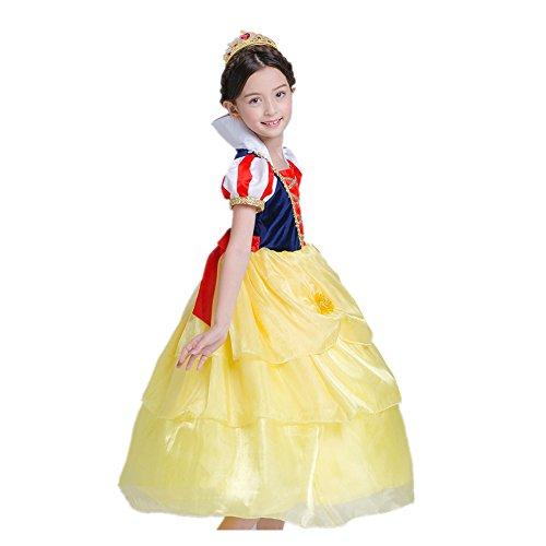 Das beste Mädchen Kostüm Kleid Schneewittchen Halloween Cosplay (110)