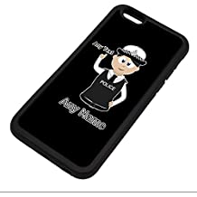 Personalised Gift - Traffic Officer Police Constable / Sergeant / (Chief) Inspector iPhone 6 / 6s Case (Police Design Theme, Colour Options) - Any Name / Message on Your Unique - PC SGT INSP CID - Dark / Black Hair Policewoman Hat Cap