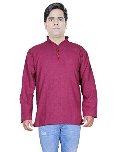 100-khadi-de-coton-de-chemises-en-coton-indien-manches-longues-mens-kurta-de-vtements-de-yoga