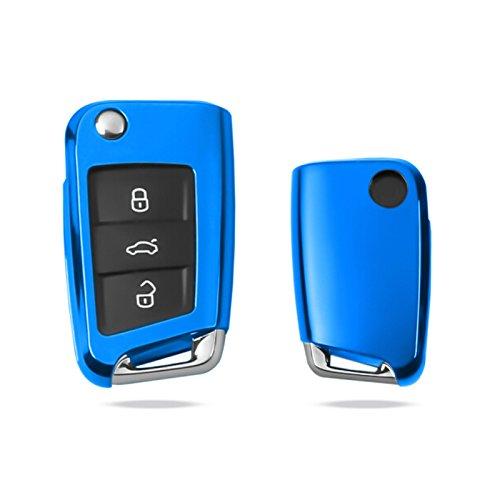 Funda roja para llave remota de coches con botones Key Cover Gloss Blue