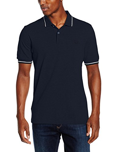 Fred Perry Herren T-Shirt Fp Twin Tipped Shirt Blau (SERV BLU BLK OXF)