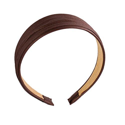 Kunstleder Haarband Stirnband Haarketten Headband Kopfschmuck Haarschmuck - braun
