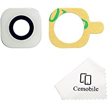 Cemobile Recambio Para Cubre Lente de la Cámara Trasera Con Adhesivo Para Samsung Galaxy S6 /S6 Edge G920 G925 (Blanco)