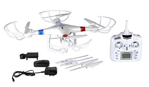 Drone Quadricottero Controllo Wifi 2,4 Ghz 6 Assi WLAN Quadcopter con Telecamera e Radiocomando, funzione Controllo Iphone Ipad, batteria 7.4V 700mAh Polimeri di Litio ad alta capacità