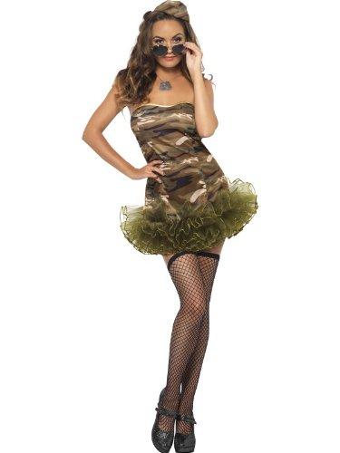m Militär Army tarnfarbend militärfarbend Minikleid sexy Kleid Tutu Gr. M / 40 - 42 (Militär Themen Kostüme)