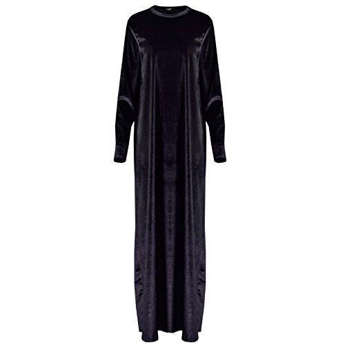Generic - Robe - Plissée - Manches Longues - Femme Gris aztèque