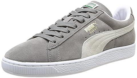 Puma Suede Classic+ - Sneakers Basses - Mixte Adulte - Gris (Grey/White 66) - 37 EU (4 UK)