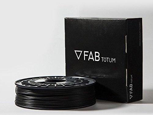 Filamento ABS color nero per stampanti 3D, prodotto italiano di alta qualità, marca FABtotum, diam. 1,75 mm, bobina da 750 gram.