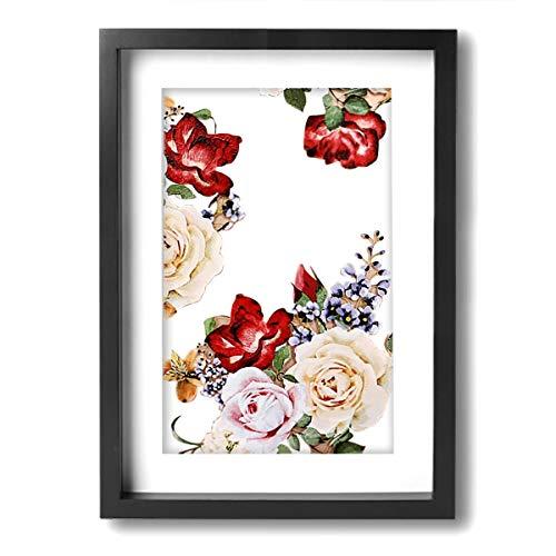 DSGFBSNi Schutzhülle für iPhone 6 Plus, iPhone 6S Plus mit Blumen. png A4 Digital Canvas Ölgemälde Geschenk für Erwachsene Kinder Malen nach Zahlen Kits Home Decorations, schwarz/weiß, Einheitsgröße