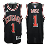 adidas Chicago Bulls Derrick Rose # 1NBA Youth Big Jungen Alternate Swingman Jersey–schwarz, Jungen Mädchen Damen, schwarz