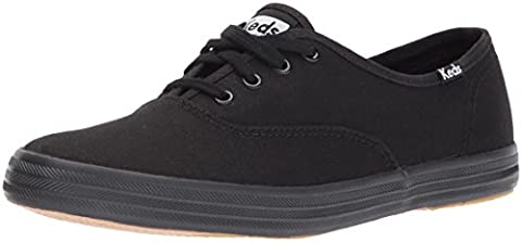 Keds Wf24700 Champ Ox Black Keds Lifestyle Womens Ch Oxford Black Continuing Shoes Size 6.0 Xw UK -4 2E