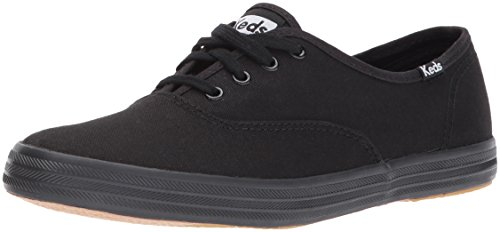 Keds Damen Champion CVO Sneaker, Schwarz (Black), 35 EU Black Leather Simple Pumps