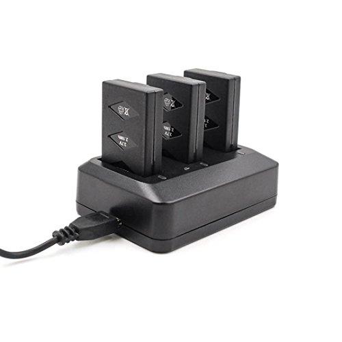 LCLrute Hohe Qualität 3 * Batterie/Set für Papagei MiniDrone Jumping Parrot Batteriekit drei Ladung Ladegerät