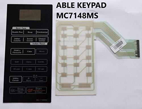Able MC7148MS Microwave Oven Membrane Keypad MC-7148MS (Black)