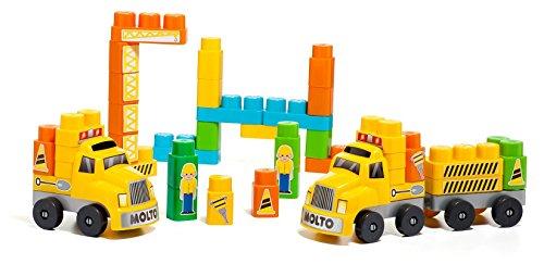 Molto Emergency Set - Set de construcción con dos camiones, 60 piezas (16479)