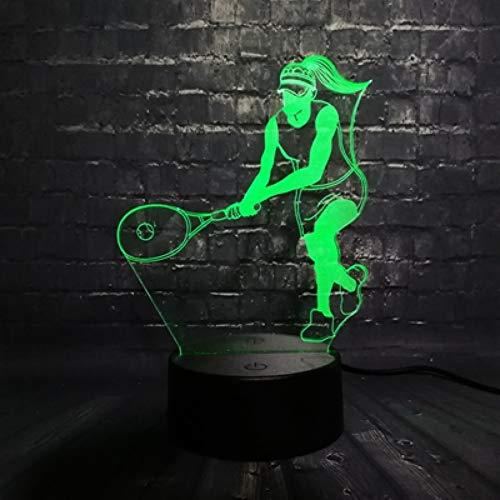 RQMQRL Sporting Serie 3D Multicolor Led Nachtlicht Lampe Tennis Volleyball Strand Kinder Tischdekoration Licht USB Basis