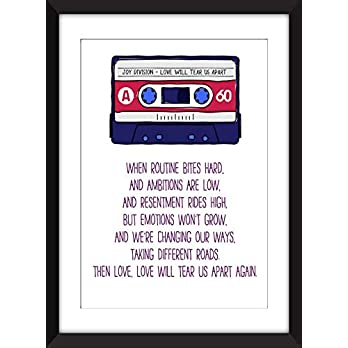 Joy Division Love Will Tear Us Apart Lyrics Unframed Print/Ungerahmter Druck