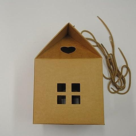 Sacchetto - Scatola con Manici in cartone a forma di Casetta - Scatola Di Cartone Crafts