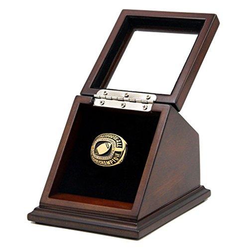 CHAMPIONSHIP Ring Display Case Box echten Holz und gerahmt Glas Deckel |single Ständer 1slot| -