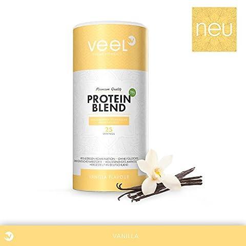 Vegan Protein Blend aus Erbsenprotein und Reisprotein | Hochwertiger Eiweiß-Shake pflanzlich vollständigem Aminosäuren-Spektrum | Proteinpulver mit Premium Qualität aus Deutschland – 750g –