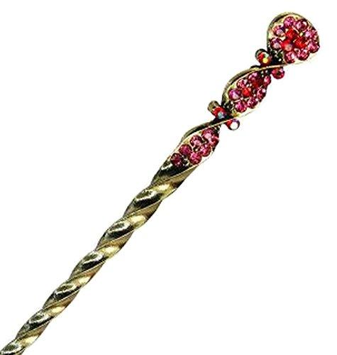 [Rose] élégant Rhinestones Hair Stick cheveux baguettes Hairpin Hair Accessoire