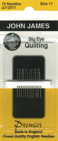 Big Eye Quilting Hand Needles-Size 11 12/Pkg by John James -