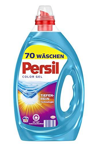 Persil Color Gel, Flüssigwaschmittel mit Tiefenrein-Technologie, 2er Pack (2 x 70 Waschladungen)